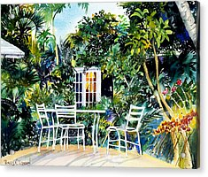 Michelle And Scott's Key West Garden Acrylic Print by Phyllis London