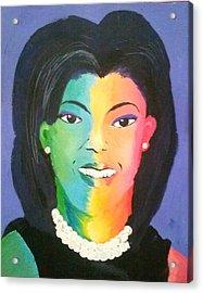 Michelle Obama Color Effect Acrylic Print by Kendya Battle