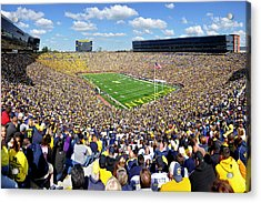 Michigan Stadium - Wolverines Acrylic Print by Georgia Fowler
