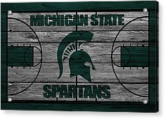 Michigan State Spartans Acrylic Print by Joe Hamilton