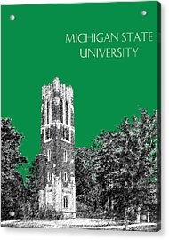 Michigan State University - Forest Green Acrylic Print by DB Artist
