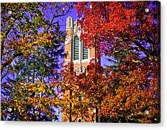 Michigan State University Beaumont Tower Acrylic Print by John McGraw