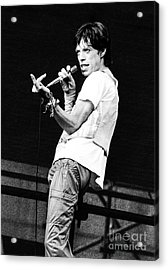 Mick Jagger 1978 Acrylic Print by Chris Walter