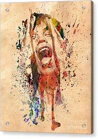 Mick Jagger Acrylic Print by Mark Ashkenazi