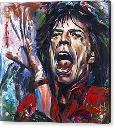 Mick Jagger Acrylic Print by Mark Courage