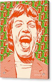 Mick Jagger Pop Art Acrylic Print by Jim Zahniser