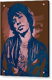 Mick Jagger - Pop Stylised Art Sketch Poster Acrylic Print by Kim Wang