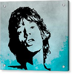 Mick Jagger Poster Acrylic Print by Dan Sproul