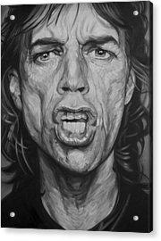 Mick Jagger Acrylic Print by Steve Hunter