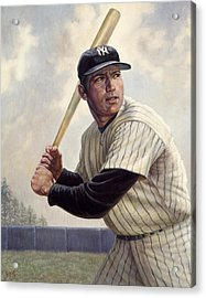 Mickey Mantle Acrylic Print by Gregory Perillo