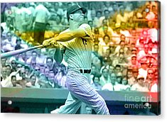 Mickey Mantle Acrylic Print by Marvin Blaine