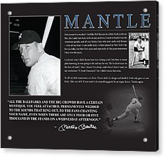 Mickey Mantle Acrylic Print by Retro Images Archive