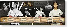 Mickey Mantle Timeline Panoramic Acrylic Print by Retro Images Archive