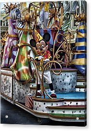 Mickey Mouse On His Celebrate It Float Acrylic Print by Thomas Woolworth