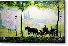 Midday Walk In The Petrin Gardens Prague Acrylic Print by Yuriy Shevchuk