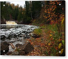 Middle Falls Tettegouche Acrylic Print by James Peterson