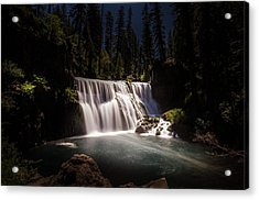 Middle Mccloud Falls Acrylic Print by Scott McGuire