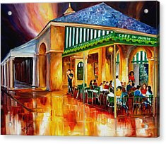 Midnight At The Cafe Du Monde Acrylic Print by Diane Millsap