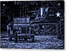 Midnight Battle And All Is Quite On The Front Lines Acrylic Print by Thomas Woolworth