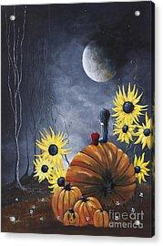 Midnight In The Pumpkin Patch By Shawna Erback Acrylic Print by Shawna Erback
