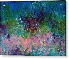 Midnight's Garden Acrylic Print by P J Lewis