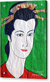 Midori By Taikan Acrylic Print by Taikan Nishimoto