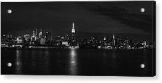 Midtown Manhattan Skyline Acrylic Print by David Morefield