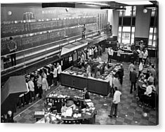 Midwest Stock Exchange Acrylic Print by Underwood Archives