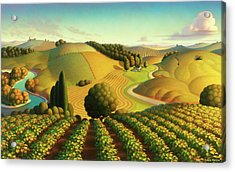 Midwest Vineyard Acrylic Print by Robin Moline