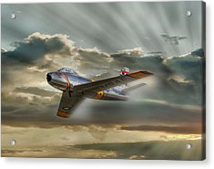 Mig Hunter Acrylic Print by Peter Chilelli