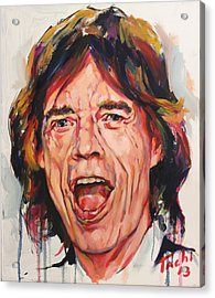 Mike - 1 Acrylic Print by Tachi Pintor
