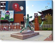 Steve Carlton Statue - Phillies Citizens Bank Park Acrylic Print by Bill Cannon