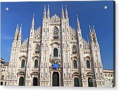 Milan Cathedral  Acrylic Print by Antonio Scarpi