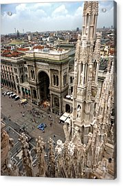 Milan Cathedral Square Acrylic Print by Gregory Dyer