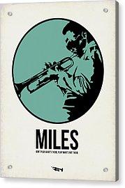 Miles Poster 1 Acrylic Print by Naxart Studio