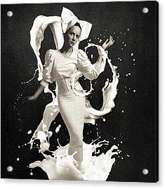 Milk Acrylic Print by Erik Brede