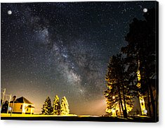 Milky Way From Oldham South Dakota Usa Acrylic Print by Aaron J Groen