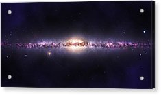Milky Way Galaxy Acrylic Print by Celestial Images