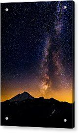 Milky Way Over Mount Baker Acrylic Print by Alexis Birkill