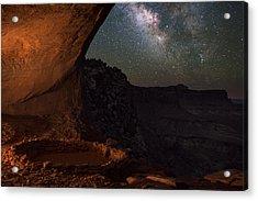 Milky Way Skies From False Kiva Acrylic Print by Mike Berenson