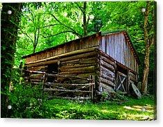Mill House Barn Acrylic Print by David Lee Thompson