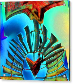 Milled Heart Acrylic Print by Wendy J St Christopher