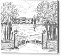 Mills Mansion Staatsburg Acrylic Print by Richard Wambach