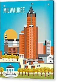 Milwaukee Acrylic Print by Karen Young