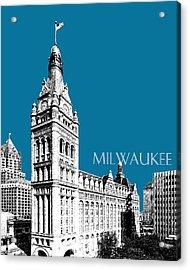 Milwaukee Skyline City Hall - Steel Acrylic Print by DB Artist