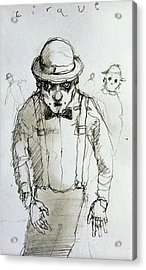 Mime Acrylic Print by H James Hoff