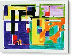 Mindscape II Acrylic Print by Xueling Zou