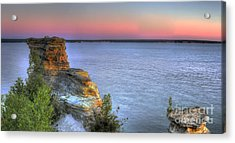 Miners Castle At Dawn Acrylic Print by Twenty Two North Photography