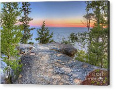 Miners Castle At Pictured Rocks Acrylic Print by Twenty Two North Photography