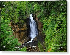 Miners Falls  2 Acrylic Print by Rachel Cohen